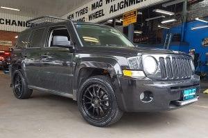 Customized black car