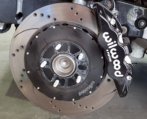 Servicing a disc break with a Wolwood caliper